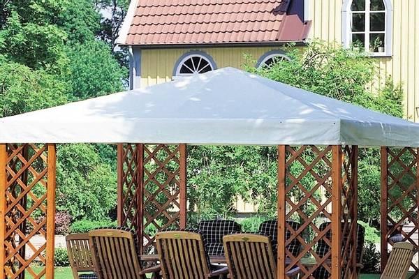 Bilde av De Luxe tak til 3,5 x 3,5 m paviljong - hvit