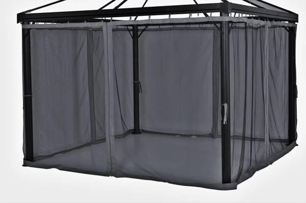 Bilde av Oxford myggnett sett til 3x3 m paviljong - mørk grå