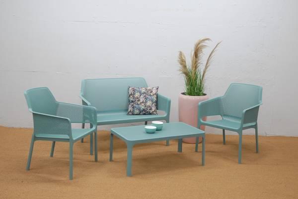 Bilde av Nardi Net 2+1+1 sett +bord - havgrønn