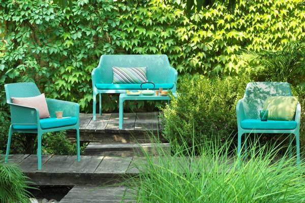 Bilde av Nardi Net sett 2+1+1 m/puter+bord - havgrønn/turkis