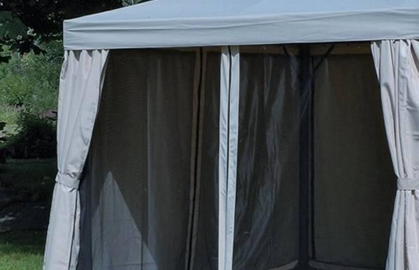 Bilde av Support myggnett sett til 3x4 m paviljong - grå