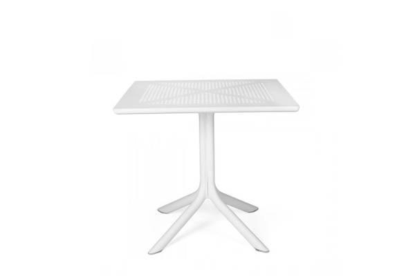 Bilde av Nardi Clip spisebord 80x80 cm - hvit