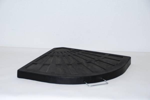 Bilde av Resin 15 kg parasollvekt for kryssfot - sort